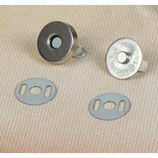 Магнитная застежка-кнопка Цвет Серебро 14 мм