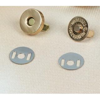 Магнитная застежка-кнопка Цвет Золото 14 мм Высота 3 мм
