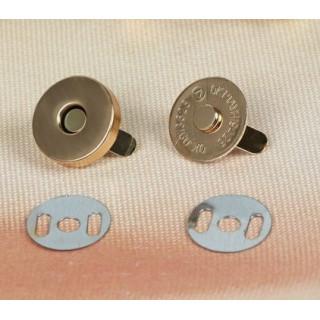 Магнитная застежка-кнопка Цвет Золото 18 мм