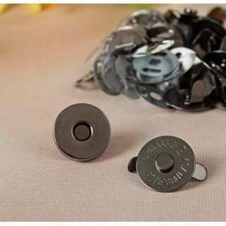 Магнитная застежка-кнопка Цвет Чёрный 18 мм