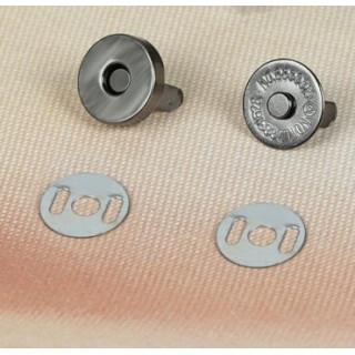 Магнитная застежка-кнопка Цвет Чёрный 14 мм Высота 3 мм