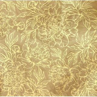 Ацетатный лист «Золотые пионы» с золотым фольгированием 20 х 20 см от Арт Узор