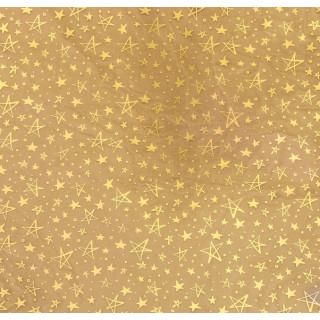Ацетатный лист «Золотые звёзды» с золотым фольгированием 30.5 х 30.5 см от Арт Узор