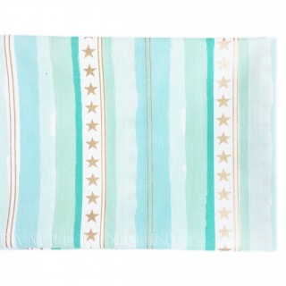 Ткань звезды и полосы на мятном 40х55см.