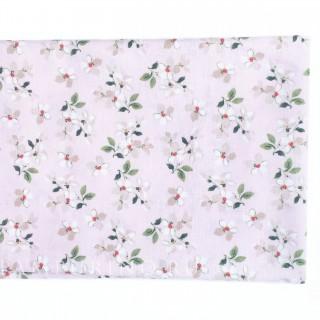 Цветы луговые на розовом 40х55см.