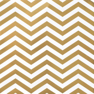 "Кардсток ""DIY Shop 2 Gold Foil Chevron On White"" от American Crafts"