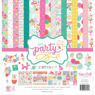 Набор бумаги 30х30 см «Let's Party» от Echo Park.