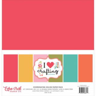 Набор Кардстока 30х30 см «I Heart Crafting» от Echo Park.