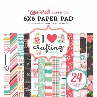 Набор бумаги 15х15 см «I Heart Crafting» от Echo Park