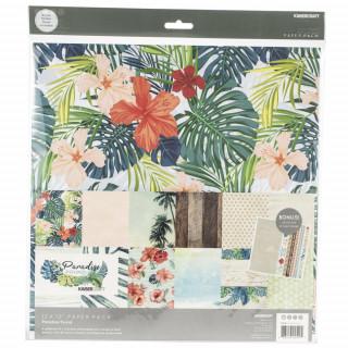 Набор бумаги  «Paradise Found» с наклейками от Kaisercraft 30х30 см new 2019!
