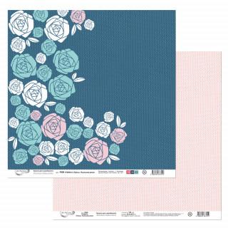 """Бумага  для скрапбукинга """"Грезы. Пыльная Роза"""" Mr.Painter PSR 170303 30,5х30,5 см двусторонняя"""