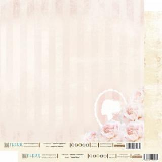 """Бумага для скрапбукинга двухсторонняя FD1000403  коллекция """"Шебби Прованс"""", 30х30 см, Fleur Design"""