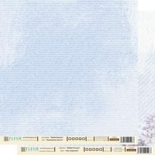 """Бумага для скрапбукинга двухсторонняя FD1000406 коллекция """"Шебби Прованс"""", 30х30 см, Fleur Design"""