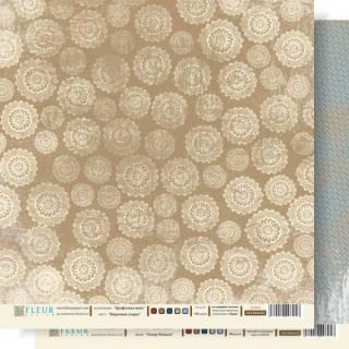 Двусторонняя бумага Крафтовая зима 30х30 см, Fleur Design FD1000605