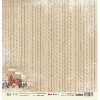 Двусторонняя бумага Крафтовая зима 30х30 см, Fleur Design FD1000602