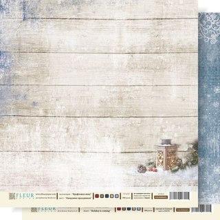 Двусторонняя бумага Крафтовая зима 30х30 см, Fleur Design FD1000601