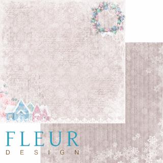 Двусторонняя бумага Новогодняя сказка 30х30 см, Fleur Design FD1004608