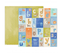 "Лист ""LITTLE ADVENTURER"" Paper 11 для мальчика от Pink Paislee 30,5х30,5 см"