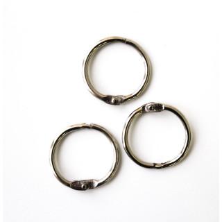 Фурнитура Крепление кольцо для подвесок-брелков Цвет - серебро