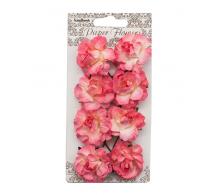 Набор цветочков  Розово-коралловый ScrapBerrys