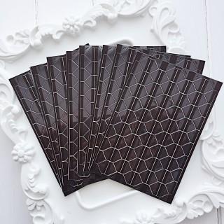 Уголки для фото прозрачные на коричневом