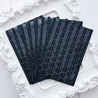 Уголки для фото прозрачные на черном