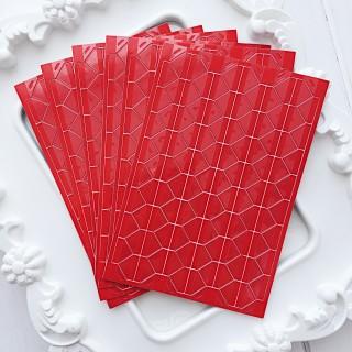 Уголки для фото прозрачные на красном