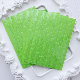 Уголки для фото прозрачные на зеленом