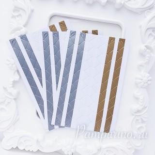 Уголки для фото бело серебристо золотые