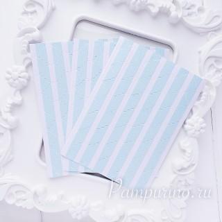 Уголки для фото голубые в горошек