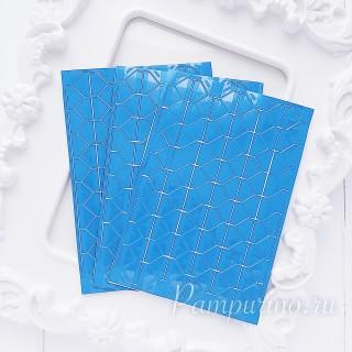 Уголки для фото прозрачные на голубом