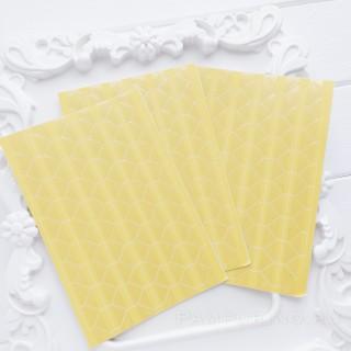 Уголки для фото прозрачные на желтом