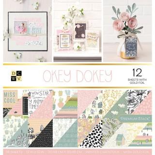 Набор бумаги Okey Dokey 30,5х30,5 см с фольгированием от DCWV