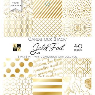 Набор бумаги Gold Foil  15х15 см с фольгированием от DCWV