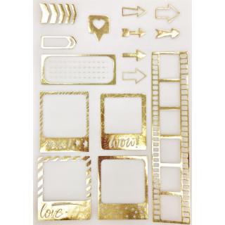 Калька/Веллум «Hello!» с золотым фольгированием 29.7 х 21 см от Арт Узор