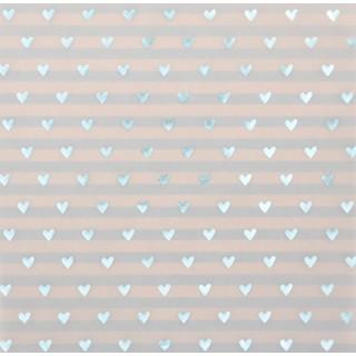 Цветная Калька/Веллум «Моё счастье» с голубым фольгированием 30.5 х 30.5 см от Арт Узор