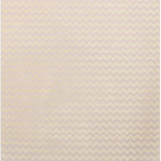 Калька/Веллум «Зигзаги» с золотым фольгированием 30.5 х 30.5 см от Арт Узор