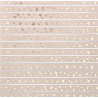Калька/Веллум «Звёздный дождь» с золотым фольгированием 30.5 х 30.5 см от Арт Узор