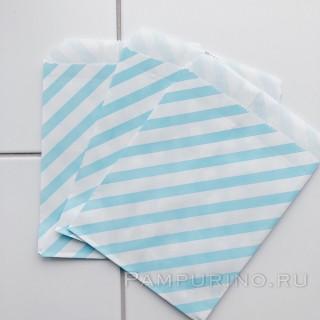 Бумажный пакет Голубой шеврон