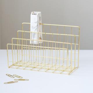 Настольный органайзер для бумаги Цвет Золото