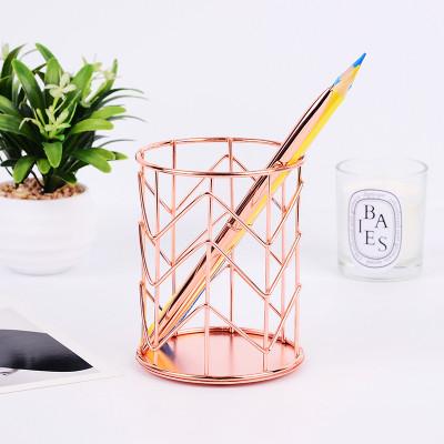 Карандашница для ручек Цвет Розовое Золото 10х8см.