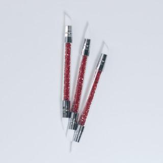 Кисточка силиконовая для клея двухсторонняя Цвет - Красный