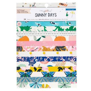 """Набор бумаги с фольгированием 22х15 см """"SUNNY DAYS"""" от Crate Paper, Maggie Holmes 24 листов"""