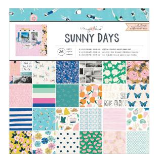 """Набор бумаги с фольгированием 30,5х30,5 см """"SUNNY DAYS"""" 36 листов от Crate Paper, Maggie Holmes"""