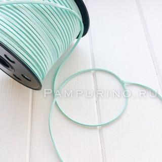 Замшевый шнур 3мм Цвет - Мятный  1ярд