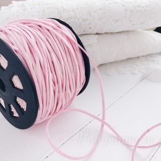 Замшевый шнур 3мм светло розовый 1ярд