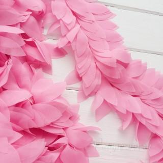Шифоновые лепестки на ленте розовые 45см
