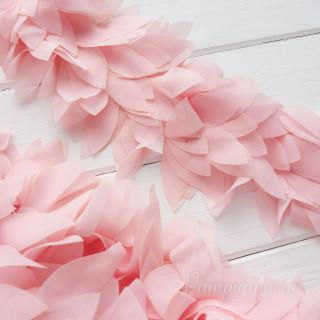 Шифоновые лепестки на ленте светло розово-персиковые 45см