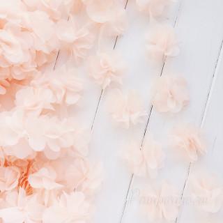 Шифоновые цветочки цвет светло Цвет - Светло-Персиковый  5шт