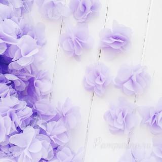 Шифоновые цветочки цвет фиолетовый 5шт